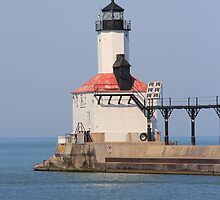 Michigan City East Pierhead Lighthouse 2, IN by Jackie Huppenthal