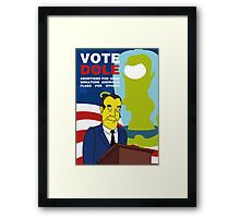 Vote Dole Framed Print