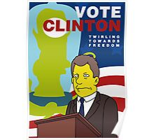 Vote Clinton Poster