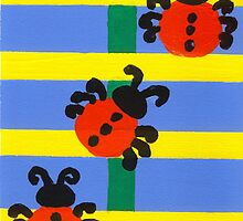 Ladybugs Portrait In Acrylic by Oldetimemercan
