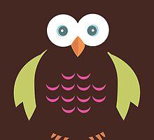 Brown & Green Owl by Adamzworld