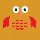 Yellow & Red Owl by Adamzworld