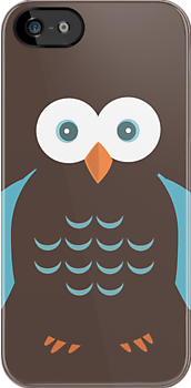 Brown & Blue Owl by Adamzworld