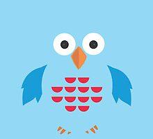 Blue & Red Owl by Adamzworld