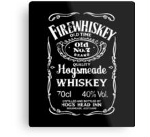 Hogsmeade's Old No.7 Brand Firewhiskey Metal Print