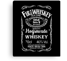 Hogsmeade's Old No.7 Brand Firewhiskey Canvas Print