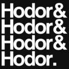 Hodor Helvetica (White) by Digital Phoenix Design