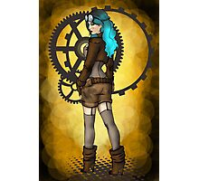 Steampunk Girl Pinup Photographic Print