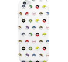 Cute Pokeball Pattern iPhone Case/Skin