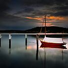 Moored - Woy Woy by Mathew Courtney