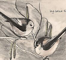 Long-tailed tits by BlackbarnGifts