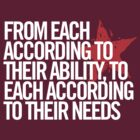 From each according to their ability... by northstardesign