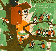 TEE BEI MAIKAFERS (vintage illustration) by ART INSPIRED BY MUSIC