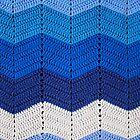 Blue Crocheted Afghan Blanket by GreenSpeed