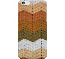 Orange Crocheted Afghan Blanket iPhone Case/Skin