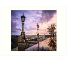 View from Capitol in Nashville, Tennessee, during the Civil War 1864 Art Print