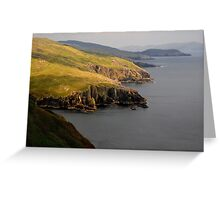 Cliffs in the spotlight Greeting Card