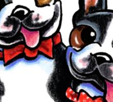 Merry Gentlemen | Boston Terriers Sticker