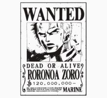 Zoro Wanted Poster by Anuktoy