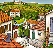 Tuscan Village by Rachelle  Nones