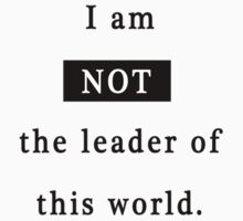 Not the leader of this world by Grimwood