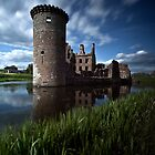 Caerlaverock Castle by Roddy Atkinson