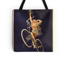 Vintage Bicycle Poster Parody - Menstrual Cycles Tote Bag