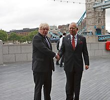 Boris Johnson & Prime Minister Of Malaysia by Keith Larby