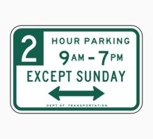 2 Hour Parking Sign by SignShop