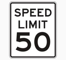 Speed Limit 50 Sign by SignShop