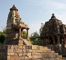 Lakshmi and Varaha Temples at Khajuraho in India by Ren Provo