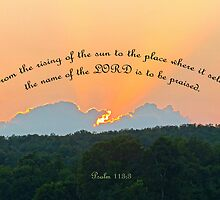 Psalm 113:3 Greeting Card by Susan S. Kline