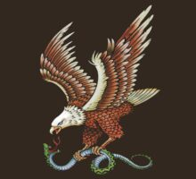 Eagle and Snake T-Shirt by Walter Colvin