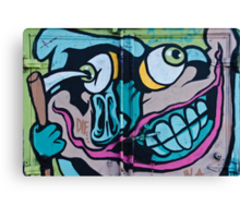 Poke in the Eye with a Grin Graffiti Canvas Print