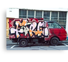Abstract Graffiti on the side of a truck. Canvas Print
