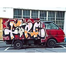 Abstract Graffiti on the side of a truck. Photographic Print
