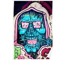Welcome to Jolly Hallucinogenic 1969. Skull Graffiti  Poster