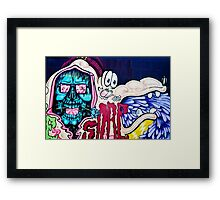 Welcome to Jolly Hallucinogenic 1969. Skull and others Graffiti  Framed Print