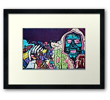 Jolly Hallucinogenic 1969 Graffiti with a Skull and the Others Framed Print