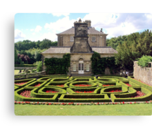 Pollok House and its formal garden Canvas Print