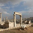 Colossal Roman Statue Fragments in Amman Jordan by Ren Provo