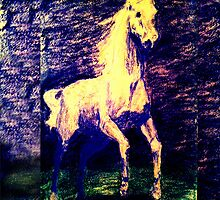 Vivid Leaping Horse by nonny