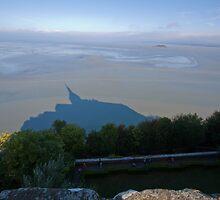 Mont Saint Michel Estuary Shadow France by Ren Provo