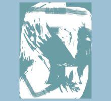 Abstract brush face - blue by HamoNam