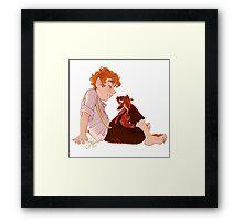 Bilbo and Smaug Framed Print
