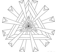 Sacred Geometry - Paint Your Own Print by TheMandalaLady