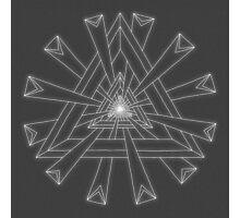 Sacred Geometry - White on Dk Grey Print Photographic Print