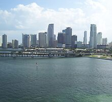Miami Skyline by K.Audrey Leto