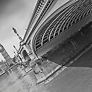 Westminster Bridge and Big Ben (B&W) by Stephen Knowles