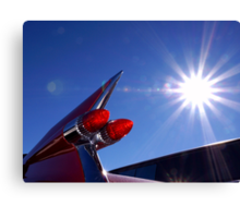 Red Cadillac Fin and Solar Flare Canvas Print